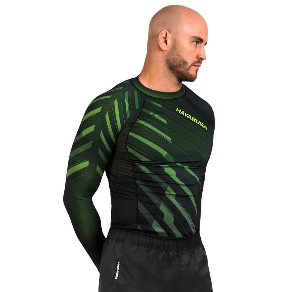 Hayabusa Odor Resist Rashguard Long Sleeve - Green