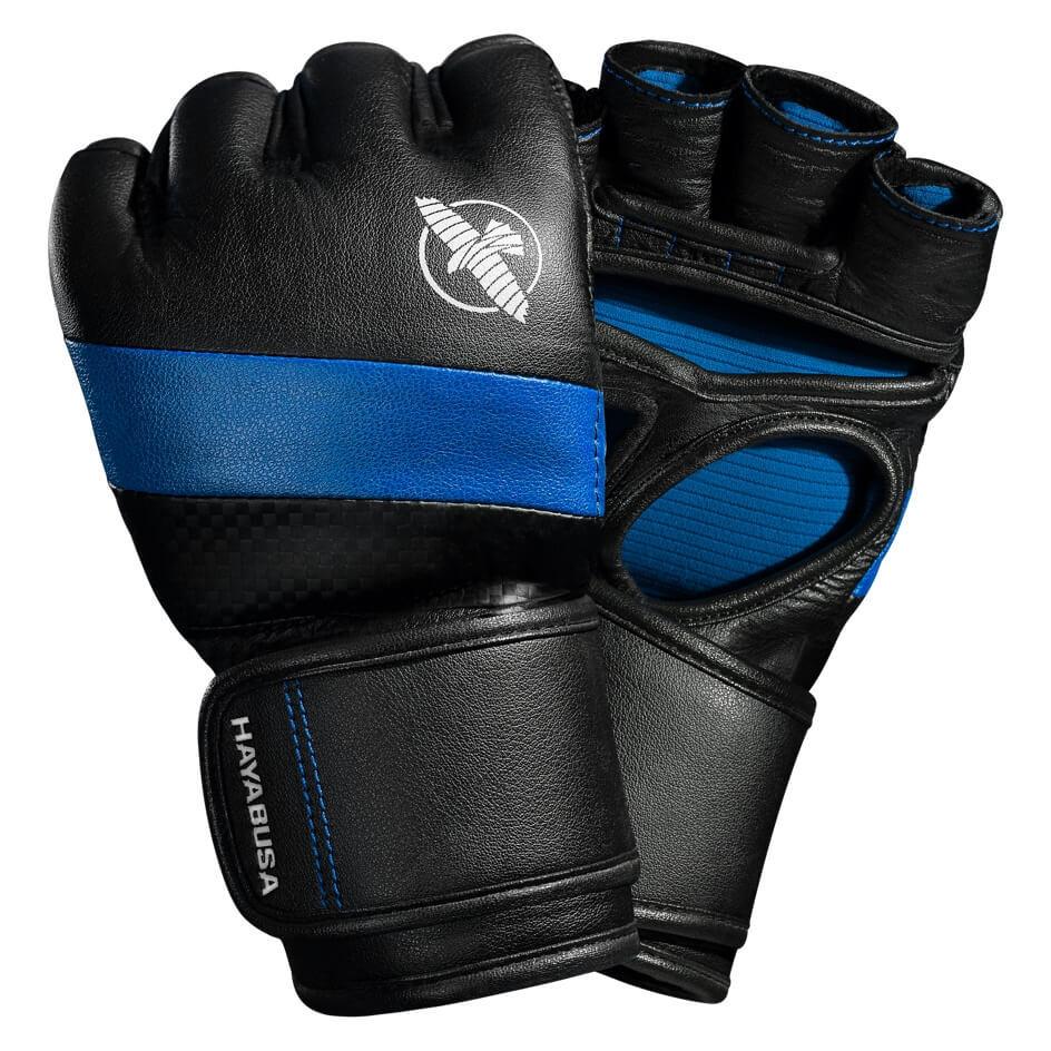 Hayabusa T3 MMA 4oz Gloves - Black / Blue