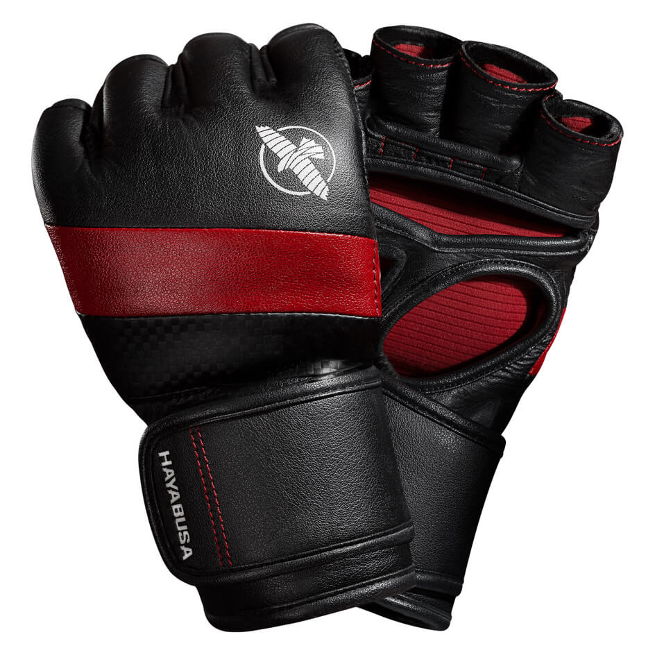 Hayabusa T3 MMA 4oz Gloves - Black / Red