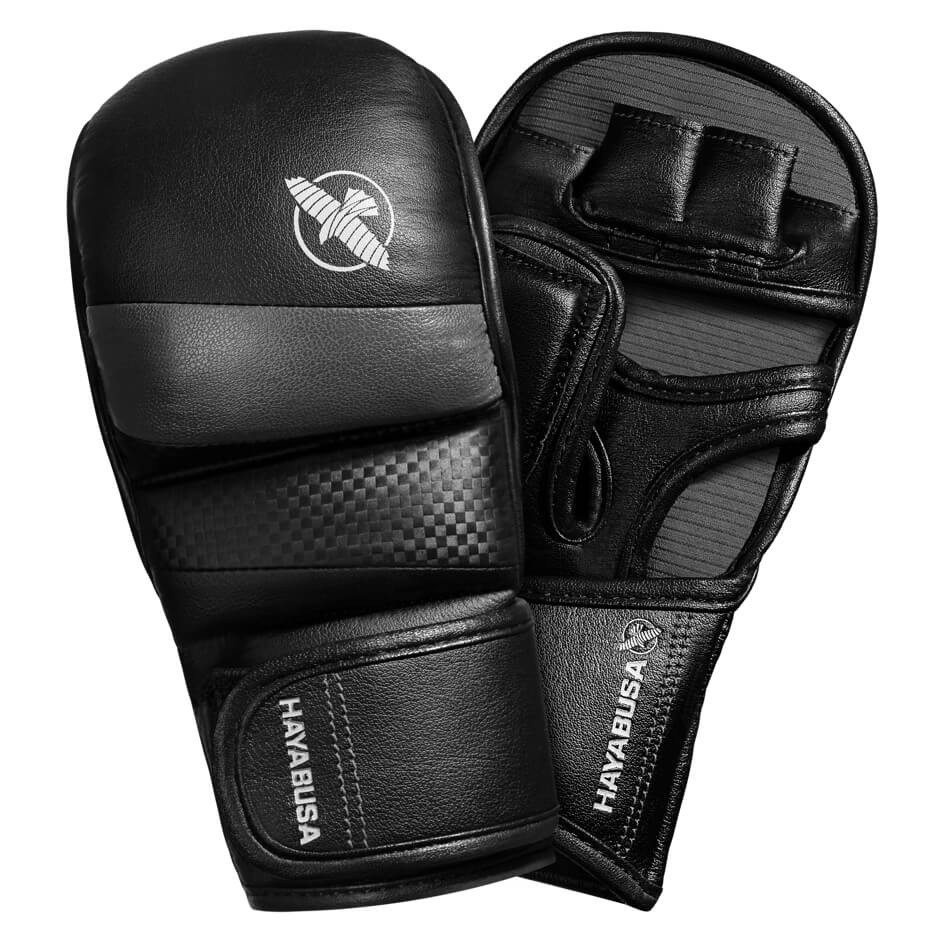 Hayabusa T3 7oz Hybrid Gloves - Black / Grey