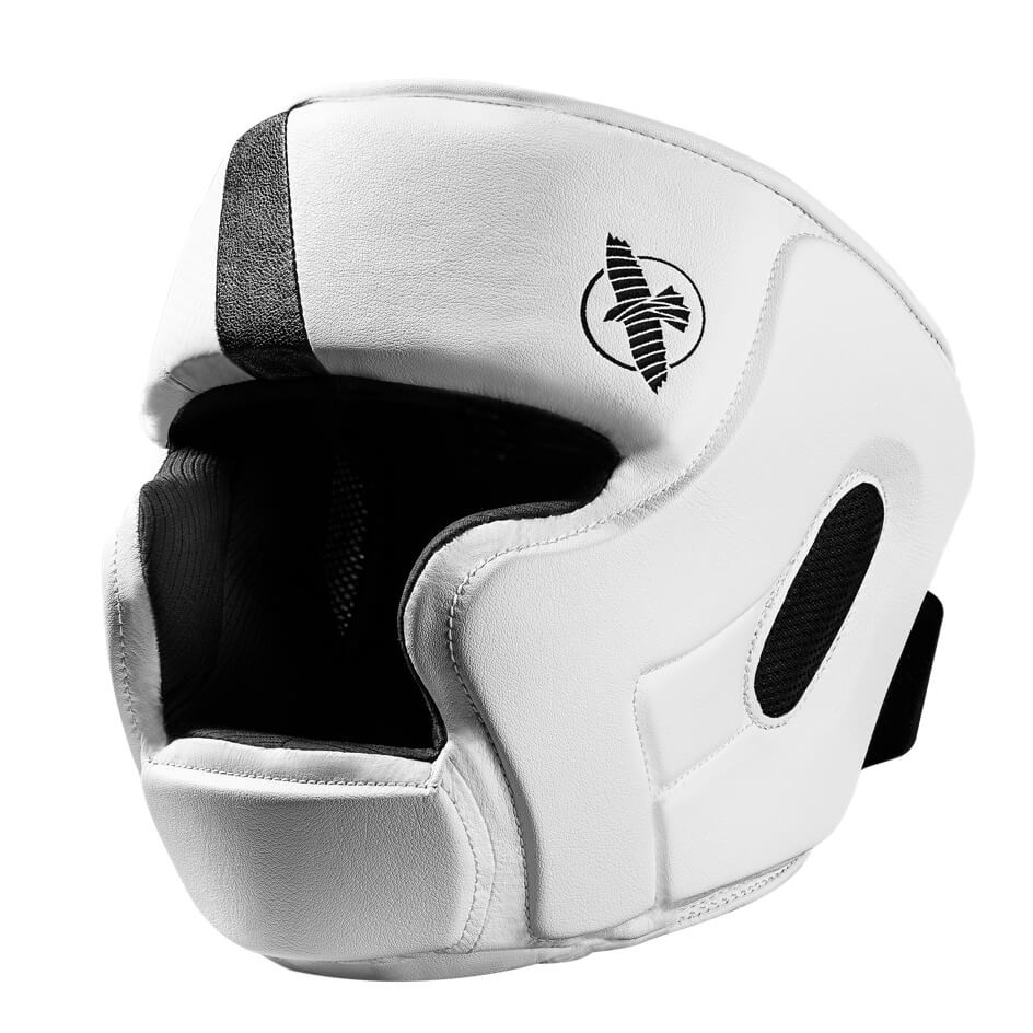 Hayabusa T3 Headguard - White / Black