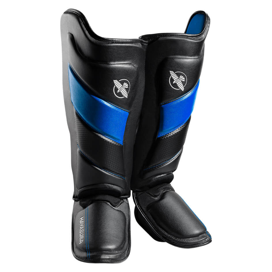 Hayabusa T3 Striking Shinguards - Black / Blue