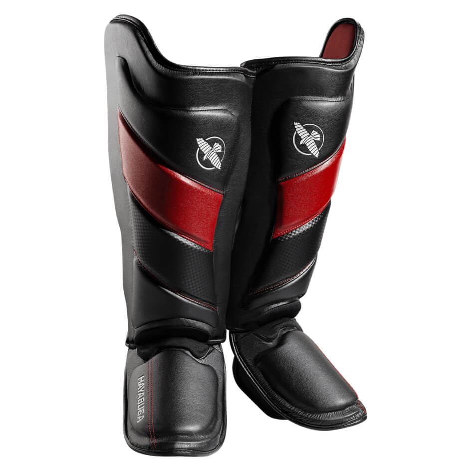 Hayabusa T3 Striking Shinguards - Black / Red