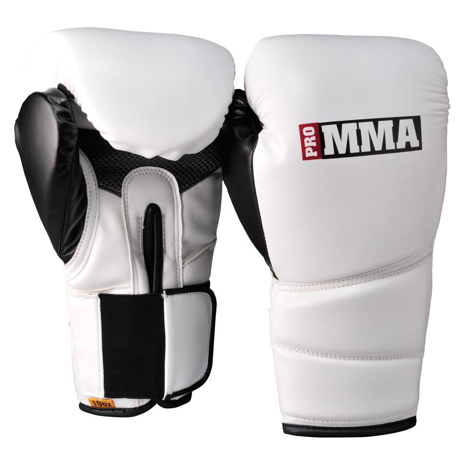 Pro MMA 10oz Bag Gloves - White