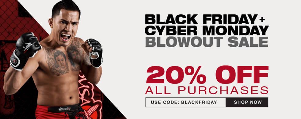 MMAFightwear Black Friday 20% Discount
